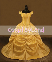 Beauty and the Beast Belle Adult Cosplay Costume Gown Princess Dress for Women Custom Made Halloween Belle Princess Costume