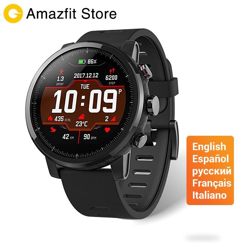 [Versión en Español] Huami Amazfit Stratos 2 Amazfit Reloj Inteligente Bluetooth GPS 11 Tipos de Modos de Deportes Resistente Al Agua 5ATM para Smartwatch
