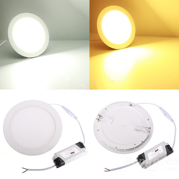 Reka bentuk ultra tipis 25W LED siling grid downlight / lampu panel bulat 225mm, 1pc / lot penghantaran percuma