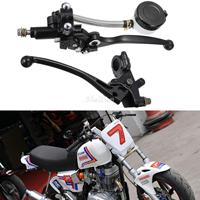 Pair 7 8 Motorcycle Handlebar Hydraulic Brake Master Cylinder Clutch Lever For Sport Street Bike Scooter