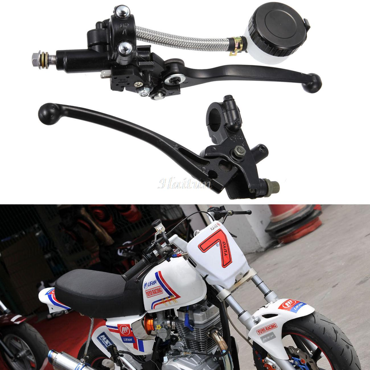 Pair 7/8 Motorcycle Handlebar Hydraulic Brake Master Cylinder & Clutch Lever For Sport Street bike Scooter Dirt Bike