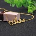 Nombre personalizado Collar de Plata Colgante de Collar de placa de Identificación de Encargo Al Por Mayor