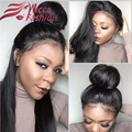 8A Virgin peruvian  Lace Front Wig Glueless Full Lace Human Hair Wigs For Black Women Straight Lace Front Wig With Baby Hair