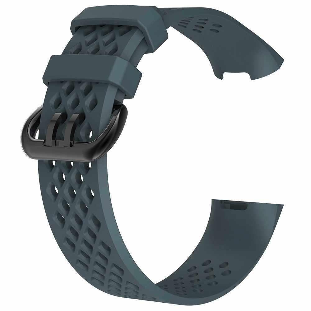 Duszake سيليكون استبدال للماء الفرقة ل Fitbit تهمة 3 معصمه الفرقة الاكسسوارات الأساور ل Fitbit تهمة 3 حزام