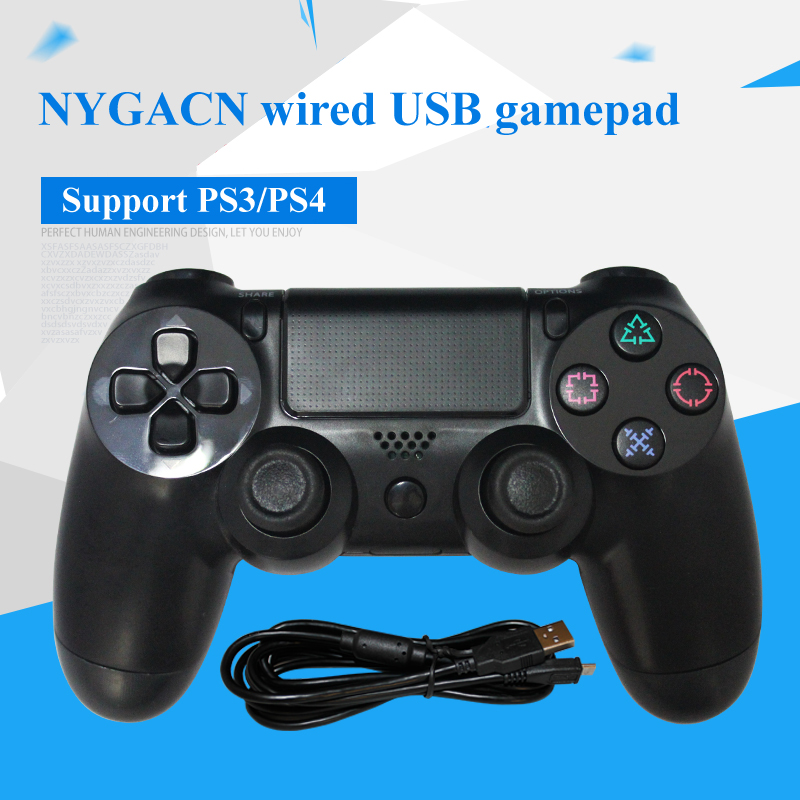 NYGACN wired USB gamepad for PS4 dual shock NJP401 game controller joystick handle Freeshipping