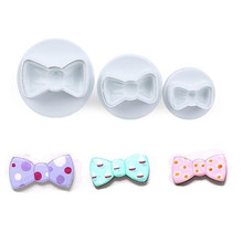 TTLIFE 3pcs Cute Bow Plunger Cookie Cutter Biscuit DIY Mold Fondant Cake Moulds Sugar Craft Confectionery Bakeware Pastry Tools цены