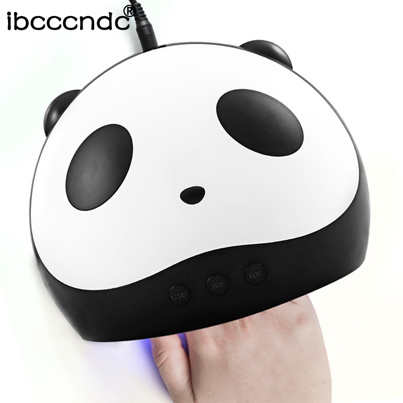 Panda Nail Dryer 36W UV LED Nail Lamps Smart Sensor 60/90/120s Time Setting Machine for Curing UV Nail Gel Polish USB Connector