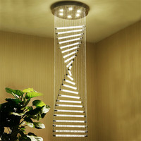 K9 хрустальные люстры, лестницы GU10 светодиодный Современная спираль Книги по искусству деко подвеска освещение Hotel Villa подвесной светильник