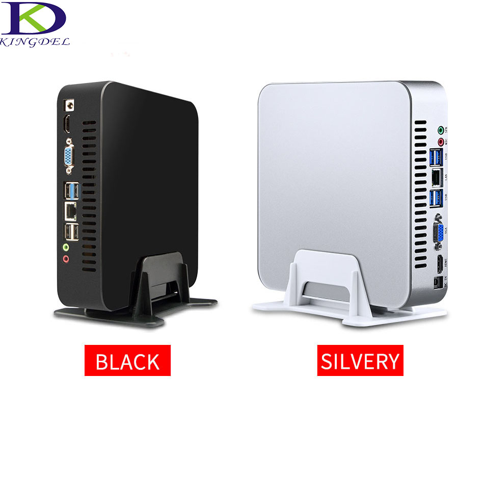 Kingdel Fan Metal Case Mini PC Intel Quad Core Dedicated Card HTPC I7 4700HQ 6M Cache I7 6500U I5 6200U Dual Core 32G RAM 1TBSSD
