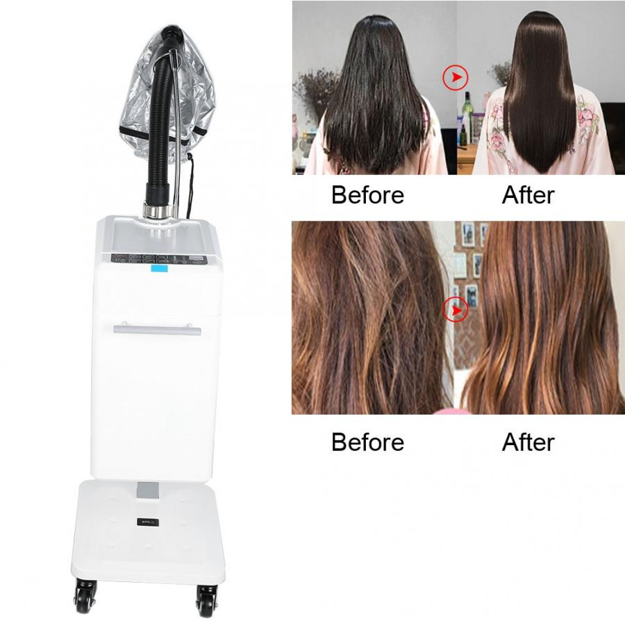 Nano Hair Steamer Anion Hair Color Processor Stand Up Rolling Base Salon Spa Equipment