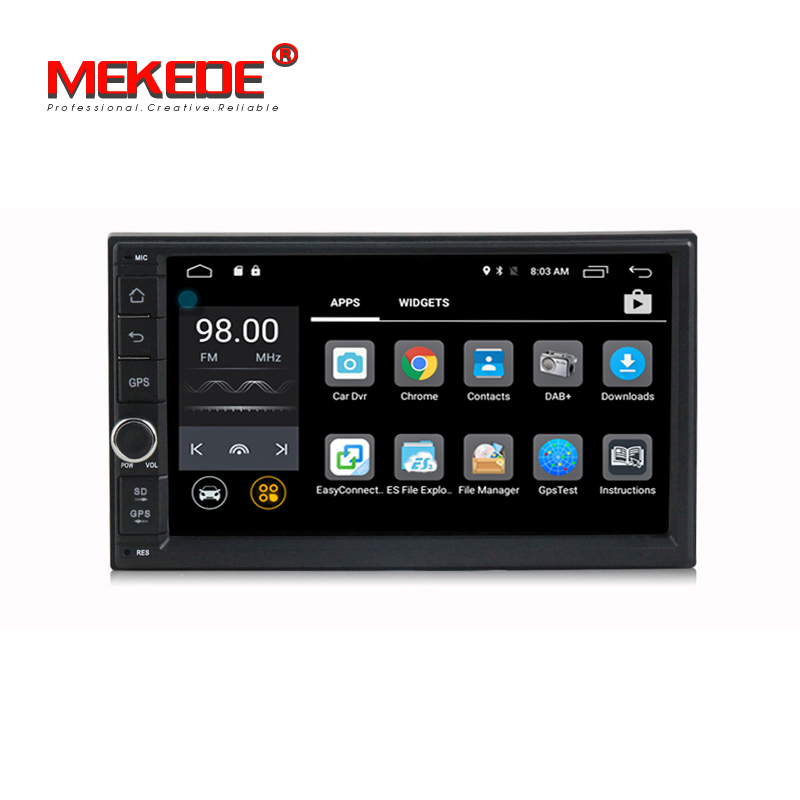 1024 x 600 Android 7.1 quad core,2 din universal car Audio stereo radio,gps navigation 4G,Wifi,BT(no dvd),Russian,English ownice c500 7 1024 600 android 6 0 quad core 2 din universal for nissan gps navi bt radio stereo audio player support 4g no dvd