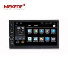 1024×600 Android 7.1 Quad Core, 2 DIN Универсальный автомобильный аудио стерео радио, навигация GPS 4 г, WiFi, BT (нет DVD), русский, английский