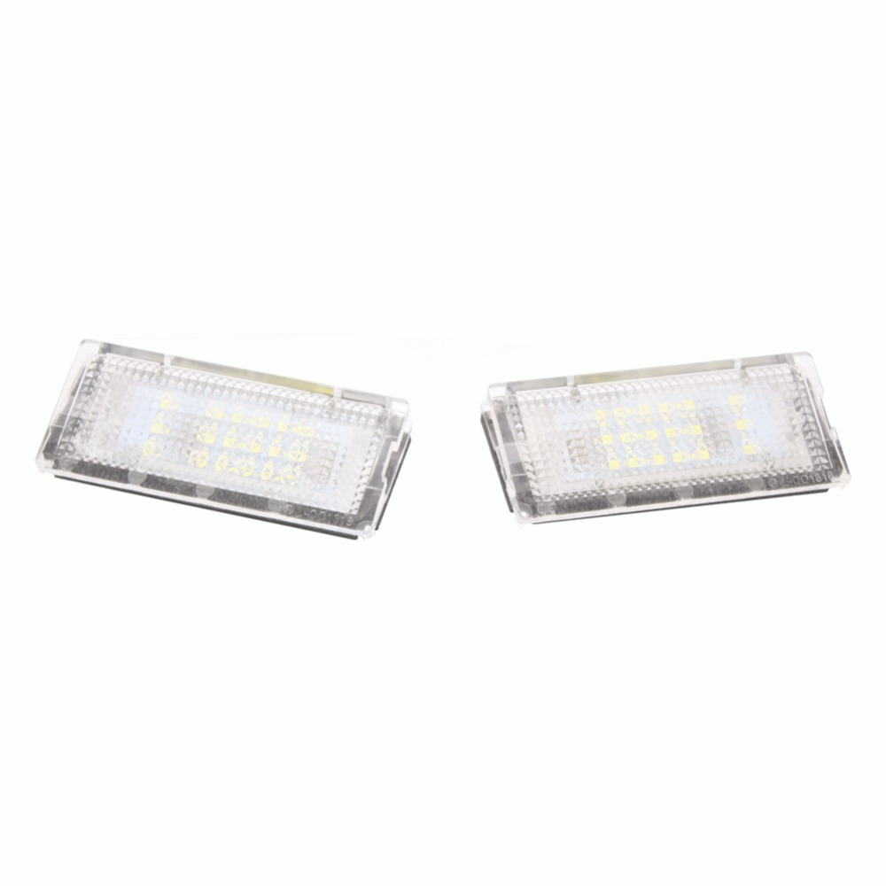 Error Free 18 LED 3528SMD Number License Plate Light Car Lamp Bulb Auto Accessories Rear Light For BMW E46 4D Sedan 5D Touring 2pcs lot 24 smd car led license plate light lamp error free canbus function white 6000k for bmw e39 e60 e61 e70 e82 e90 e92