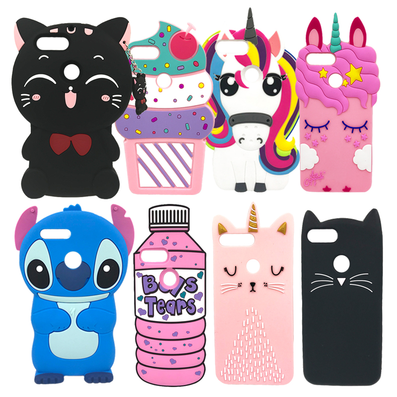 For Huawei P Smart Case Silicone Cute 3D Unicorn Cat Cartoon Soft Cover Phone Case For Huawei P Smart FIG-LX1 PSmart 5.65 2018