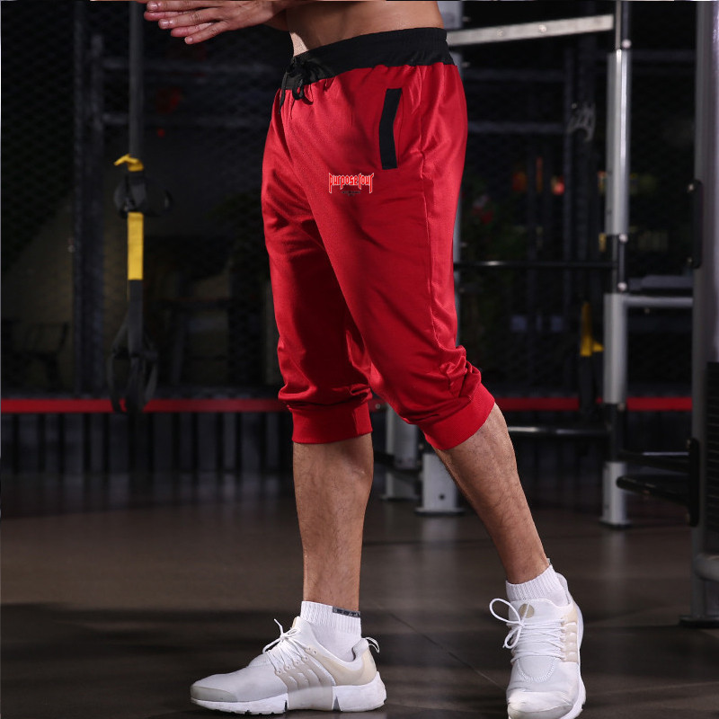 Summer men 39 s shorts running shorts gym fitness bodybuilding shorts men 39 s sports training five points shorts in Running Shorts from Sports amp Entertainment
