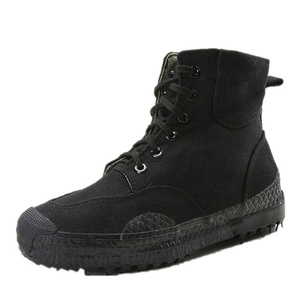 Image 3 - Мужская модная повседневная камуфляжная обувь 2019, Мужская обувь из каучуковой резины для освобождения труда, высокая Спортивная парусиновая обувь в джунглях