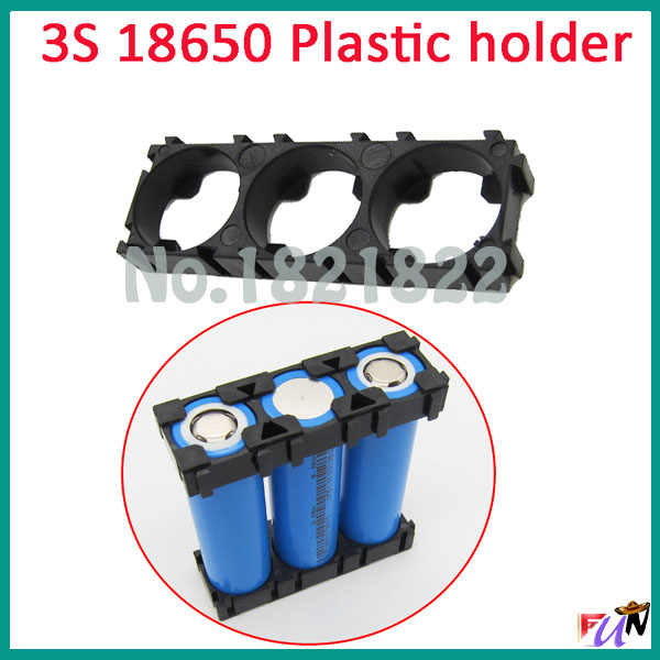 2 pièces/alot 3 S 18650 support de batterie support de batterie cylindrique 18650 support de sécurité Anti Vibration boîtier en plastique boîte