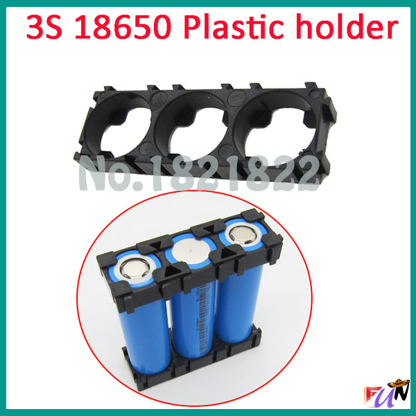 Objective 2pcs/alot 3s 18650 Battery Holder Bracket Cylindrical Battery Holder 18650 Holder Safety Anti Vibration Plastic Case Box