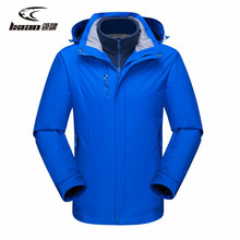 LXIAO Winter Jacket Men Windbreaker 2pcs Softshell Jacket Men Fleece Hiking Camping Male Coat Waterproof Outdoor Jacket Men rax winter outdoor waterproof hiking jacket for men fleece windbreaker windproof softshell jacket men s thermal rain jackets men