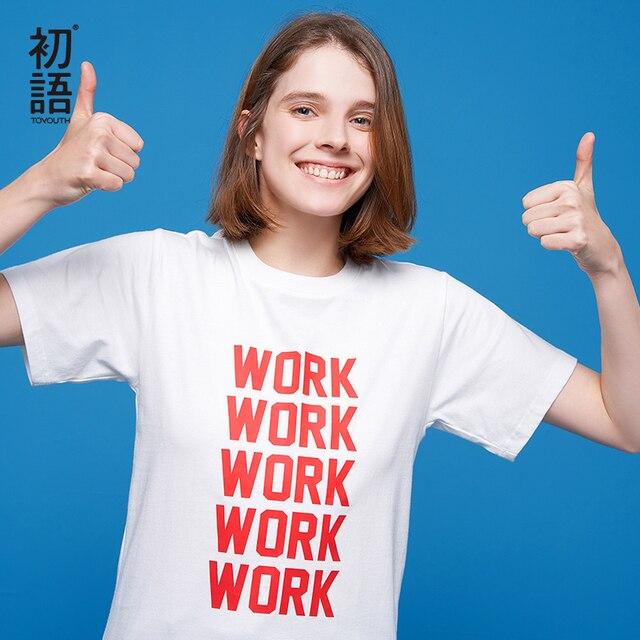 Toyouth новые летние Корейский стиль модный короткий рукав женские топы с буквенным принтом Повседневная футболка