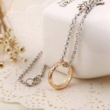 Um anel de energia colar elfos baggins gollum tolkien letras cor de ouro pingente moda filme jóias masculinas atacado