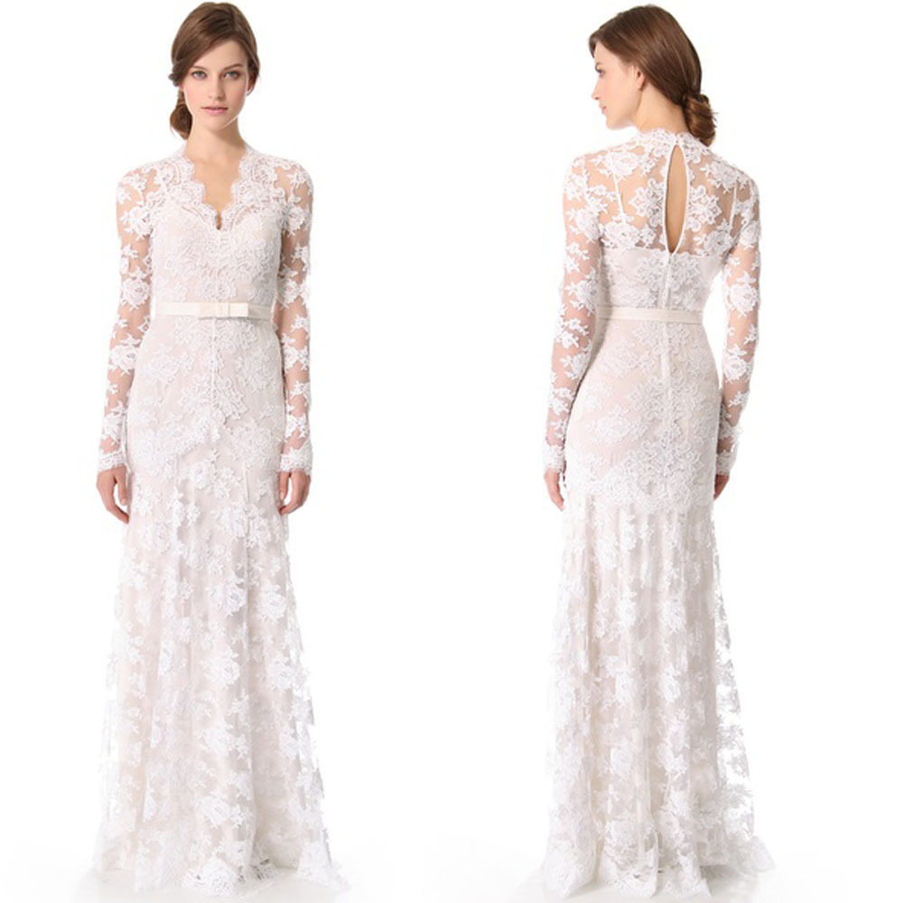 2014 Temperley London Guinevere Bridal Gown Vintage Lace Long Long ...