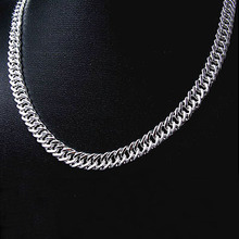 CN103  Hotsale New Items / Men Jewelry Free Shipping High Quality 925 Sterling Silver 10MM Links Chain Necklace