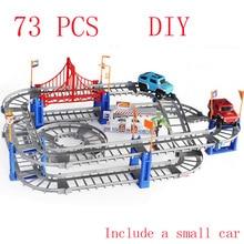 Nouvelle Vente Chaude enfants jouets cadeaux de fête Deux-couche Spirale Galet Coaster Jouet Électrique de Vitesse Sur Rail De Voiture pour Enfant Nouvelle Année Cadeau