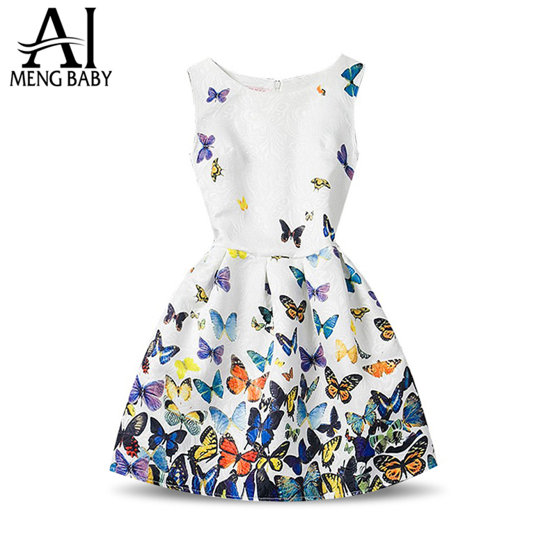Fashion Girls Summer Dress 2018 Teenagers Girls Party Gowns Dress Age Size 6 7 8 9 10 11 12 Year Birthdays Princess Dresses