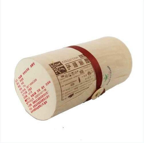 Decorative Empty Soft Birch Bark Cylinder Tube Tea Gift Box
