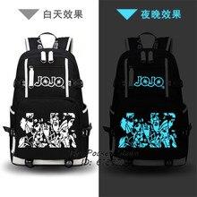 Anime jojo aventura bizarra impressão mochila jonathan joestar cos anime sacos de escola lona sacos de viagem feminina