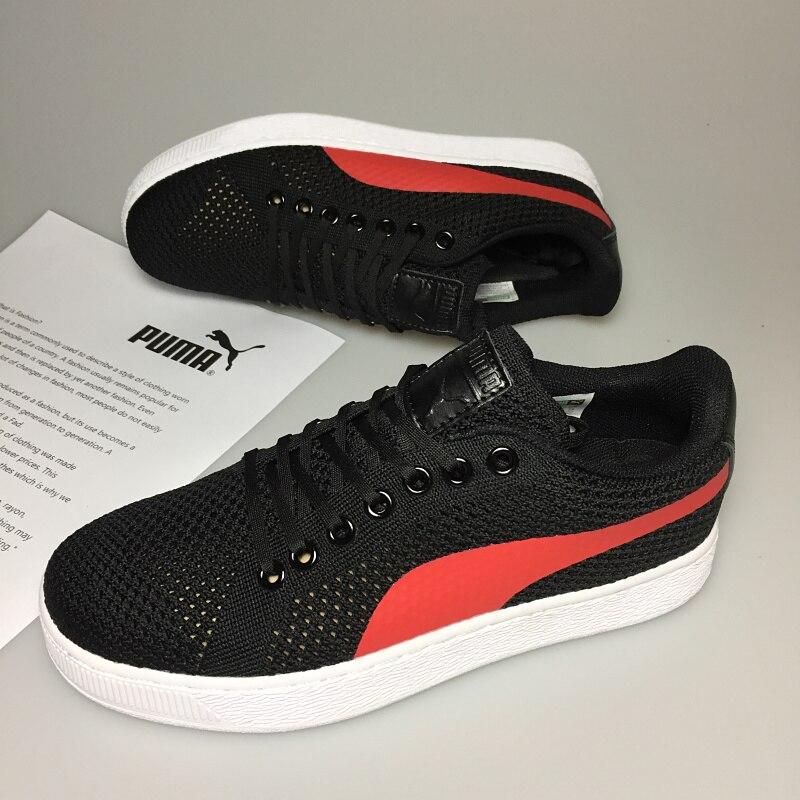 e06d58e40817 2018 Puma Breathable Men s Leather Sneakers Ferr-ari Shoes Red White Black