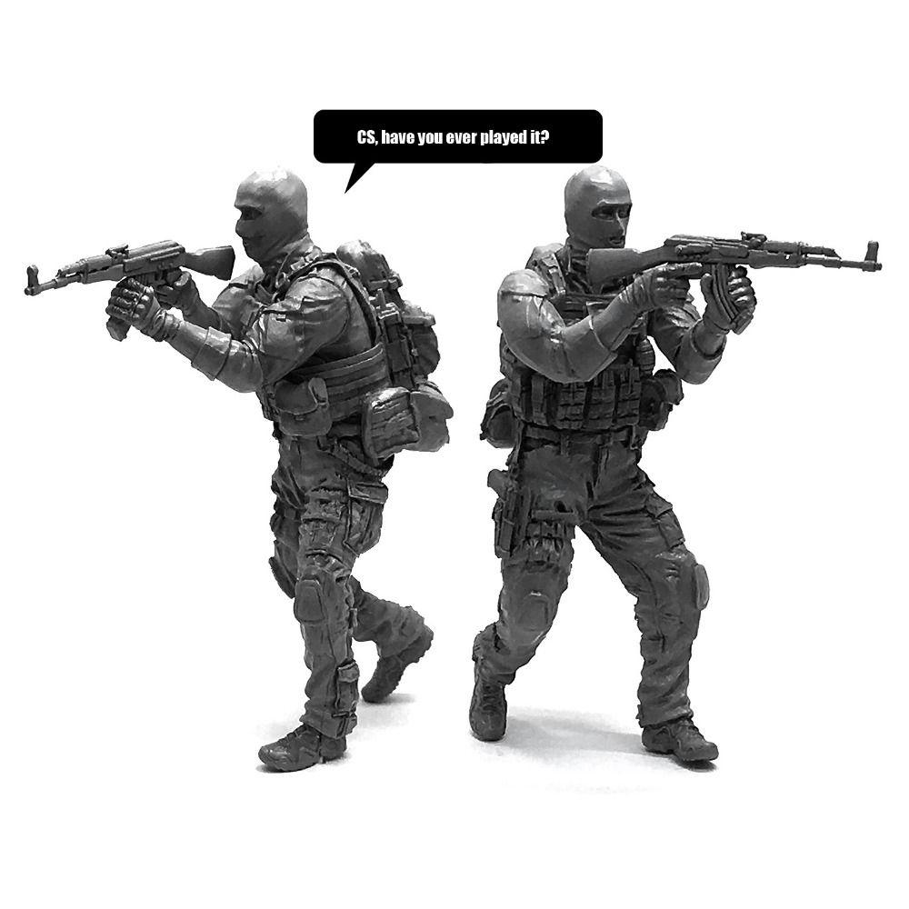 1//35 Russian modern Special Forces soldier Resin Scale Model