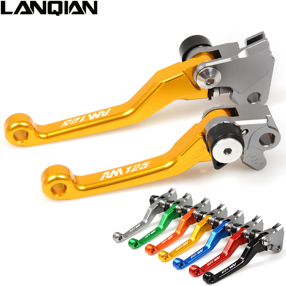 CNC For SUZUKI RM 125 1996 1997 1998 1999 2000 2001 2002 2003 Gold Brake Clutch Lever Pivot Lever Have RM125 LOGO K0 K1 K2 K3 8colors brake clutch levers for suzuki katana gsxf600 gsxf 600 gsx600f gsx 600f 1998 1999 2000 2001 2002 cnc clutch brake lever