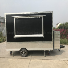 China Largest Factory Catering Food Trucks Mobile Kitchen Dining Cocession Food Trailer Street Vending Carts 3.8M