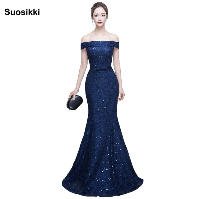 New Mermaid Prom Dresses long Elegant squined cute sexy Formal Evening  dress Fishtail Gown Suosikki Robe de soiree 8f432df0620c