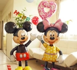 Large 112cm Minnie Mickey foil balloons Bowknot standing mouse Polka dot wedding birthday party decor supplies all style