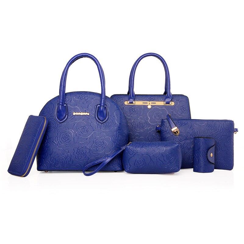6 set Handbags Brand Women Handbags Set Handbags Women Set Card Holder Wallet Shoulder Bag Pouch Waist Pouch Crossbody bag N90