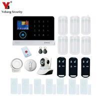 Yobang Security WIFI Defense Personal Alarma Panic Button HD IP Camera Smart Burglar GSM Alarm System Fire/Smoke/PIR detector