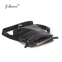 J.Quinn Shoulder Bags for Men Crossbody Handbag High Quality Genuine Leather Male Travel Men's Cowhide Durable Double Zipper Bag