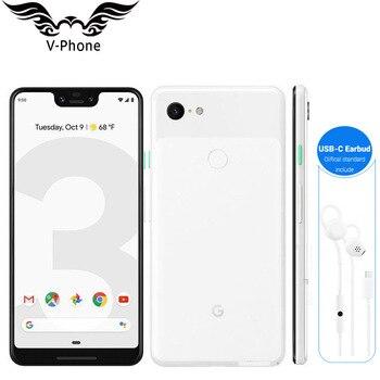 Перейти на Алиэкспресс и купить 6,3 дюймов Google Pixel 3 XL 4 ГБ 128 Гб мобильный телефон NFC Snapdragon 845 Android 9 Google pixel XL 3 совершенно новый оригинальный смартфон