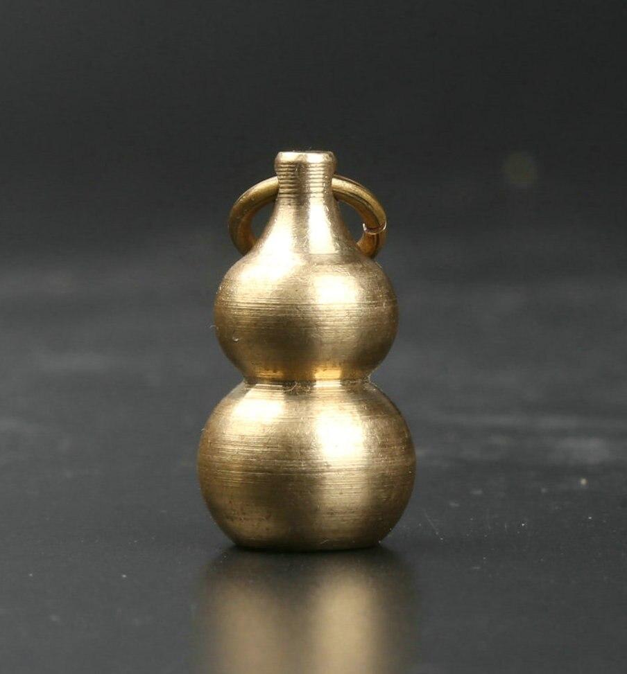 29MM Small Curio Chinese Bronze Cucurbit Gourd Fu Money Coin Wealth Pendant /'福/'