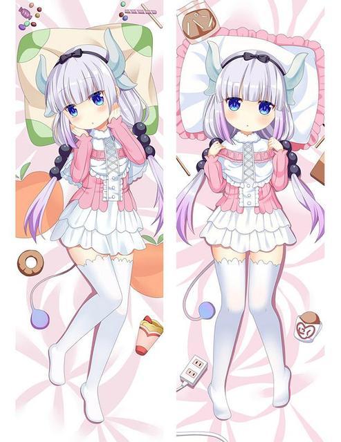 Hot Japanese Anime Miss Kobayashi's Dragon Maid Kanna Kamui Tohru Hugging Body Dakimakura Pillow Cover Case Otaku Drop Shipping