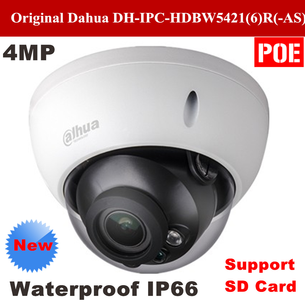 Dahua DH IPC HDBW5421R IR Full HD 4MP Network Vandal proof Dome IP Camera Support POE