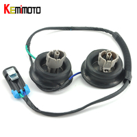 KEMiMOTO For Cadillac Engine Knock Sensor Harness With Dual Connectors Grommets For Chevy For GMC