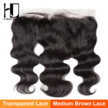 HJ Weave Beauty Indian Body Wave Transparant Kant Frontale Sluiting 100% Menselijk Haar Oor Tot Oor 13*4 Kant frontale(China)