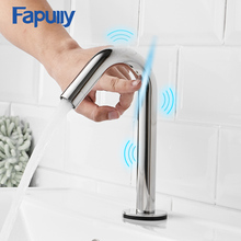 Fapully New Mini Smart Touch Bathroom Basin Faucets Chrome Sensor Sensitive Tap Control Mixer CP-1032-22