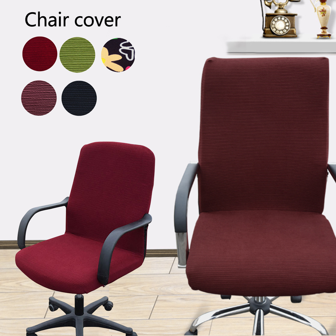 Removable Stretch Swivel L M S Xs Computer Chair Covers Office Armchair Comfortable Seat Slipcovers In Cover From Home Garden On