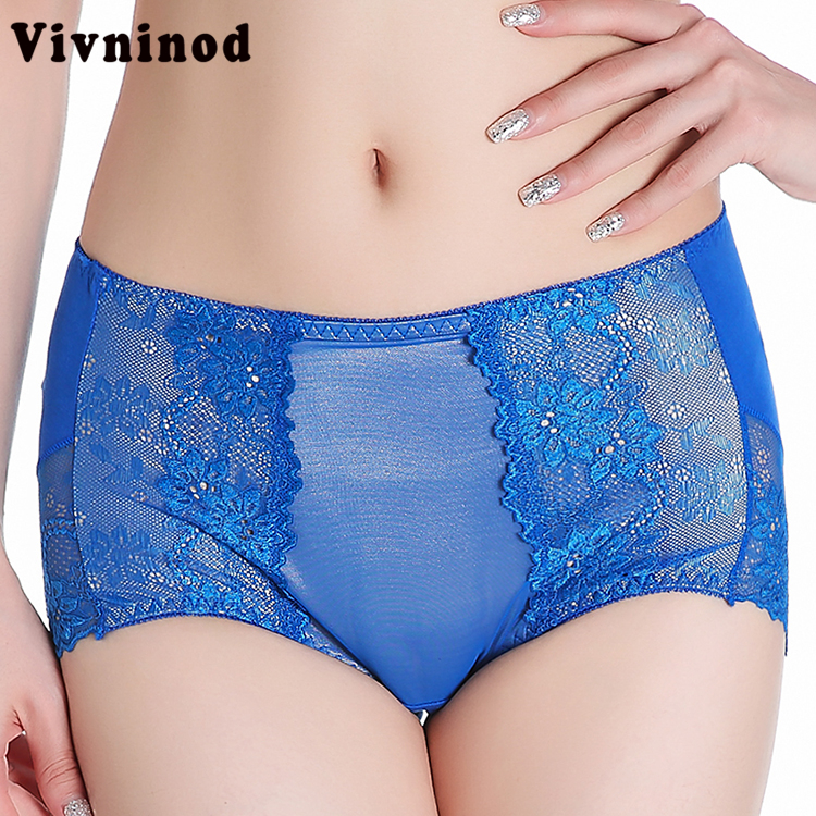 Women Underwear Briefs Sexy Women's Panties Full Transparent Lace Female Bamboo Lace Panties Intimates Cute Pink Briefs Tongs
