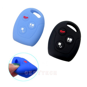 Image 3 - OkeyTech 3 Button Soft Silicone Car Key Case Set Cover For Ford Focus Mondeo 2 3 MK4 Festiva Fusion Suit Fiesta KA Protector Fob